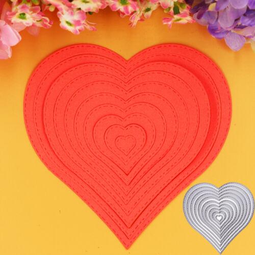 10XHeart Sewing thread Cutting Dies Stencils Scrapbooking Album Photo Card Craft