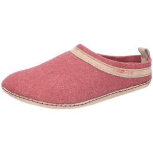 Rohde-Damen-Hausschuh-Pantoffel-Pantolette-Filz-Leder-Fussbett-6130-45-rosa