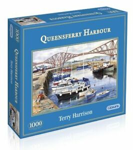 Gibsons-Jigsaw-Puzzle-QUEENSFERRY-HARBOUR-1000-Pieces