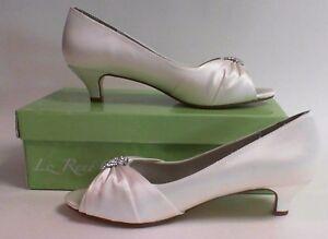 Image Is Loading Liz Rene Wedding Shoes Angel White Silk 786m