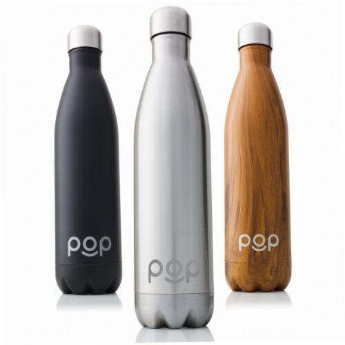 POP Design Vakuumisolierte Thermosflasche aus Edelstahl Hält Getränke bis zu...