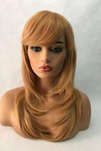 100% Human Hair !Fashion collection Wigs  gold  Wig 486226