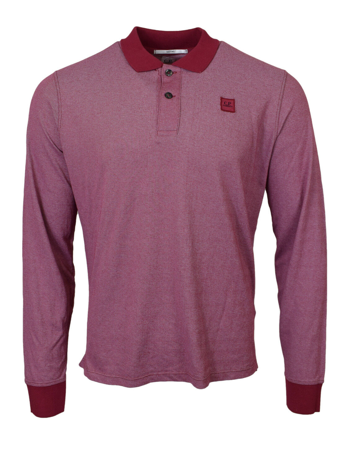 CP Company Tacting Long Sleeved Polo Shirt Red BNWT RRP