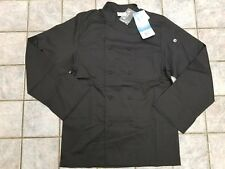 New Chef Works Calgary Chef Coat Jacket Black Mens Size Small Jlls Nwt Vented