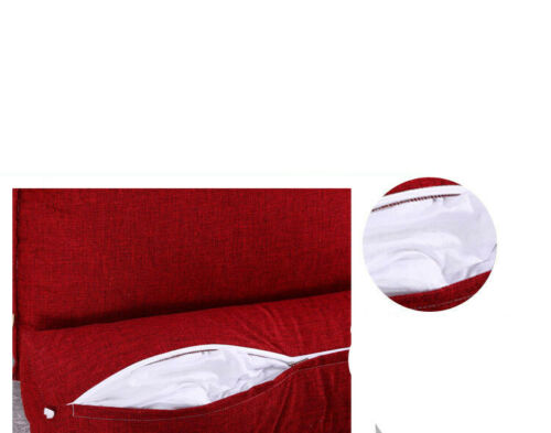 1X Bedrest Adjustable Pillow Back Support TV Reading Bed Rest Cushion Home Decor