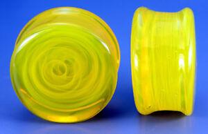 Price Per 1 Ear Gauge Jewelry FLAT PLUGS Green Glass