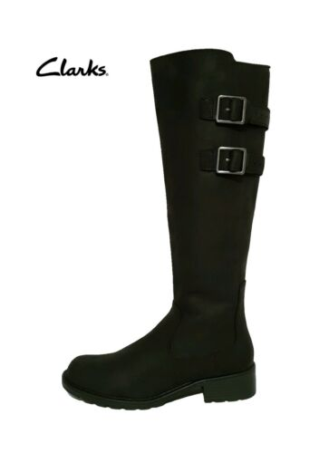 negras de Ajuste 100 cuero hasta Clarks £ Tango Rrp ajustable rodilla Orinoco la Botas pantorrilla de xOfqwRP7