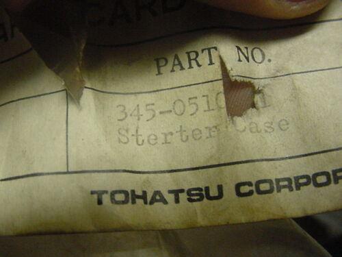 NEW OEM Nissan Tohatsu Starter Case 345-05105-0   345051051M   C4//C57//B1//C88