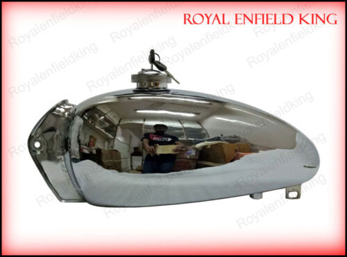 Cap New Royal Enfield Bullet 1950/'s Chromed Fuel Tank With Tap