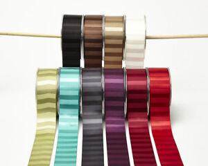 Satin-Horizontal-Striped-Ribbon-38mm-wide-3-Metre-10-COLOUR-Choice-MayArts-BL13