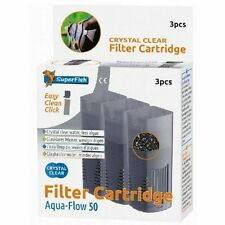 Superfish Aqua Flow 50 Crystal Clear Filter Cartridge Carbon & Zeolite (3 pcs)