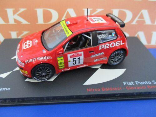 Bernacchini Die cast 1//43 Modellino Auto Fiat Punto S1600 Rally Sanremo 2003 G