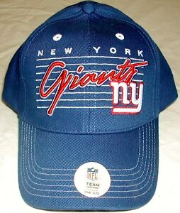 NEW YORK GIANTS MENS HAT CAP ONE SIZE NFL TEAM EMBROIDERED CURSIVE ... 7740f9080