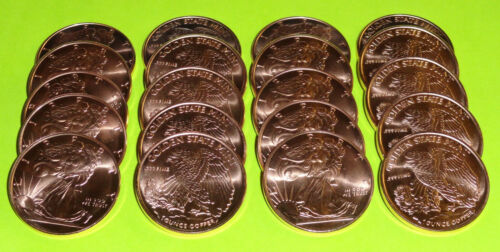 60 - Walking Liberty American Eagle Coins 1 oz each .999 Copper Bullion