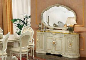 Credenza credenza soggiorno sala da pranzo buffet beige lucido stile ...