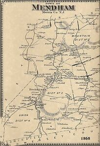 Mendham-Whippany-Brookside-Pleasant-Valley-NJ-1868-Maps-Homeowners-Names-Shown