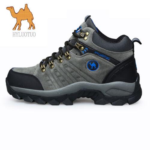 Mens Walking Hiking Trail Waterproof Work Mid high-cut Boots See Video Below