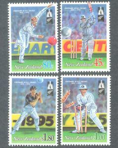 New-Zealand-1994-Cricket-Sports-Stamps-set-4v-MNH