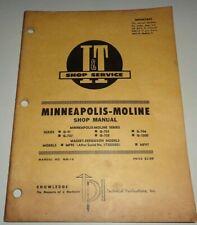 Minneapolis Moline Gvi G 705706707708 G 1000 Tractor Iampt Shop Service Manual