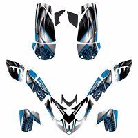 Polaris Predator 500 Graphic Custom Sticker Kit No7777 Blue