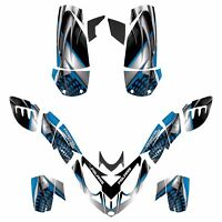 Polaris Predator 500 Graphic Custom Sticker Kit No7777 Blue