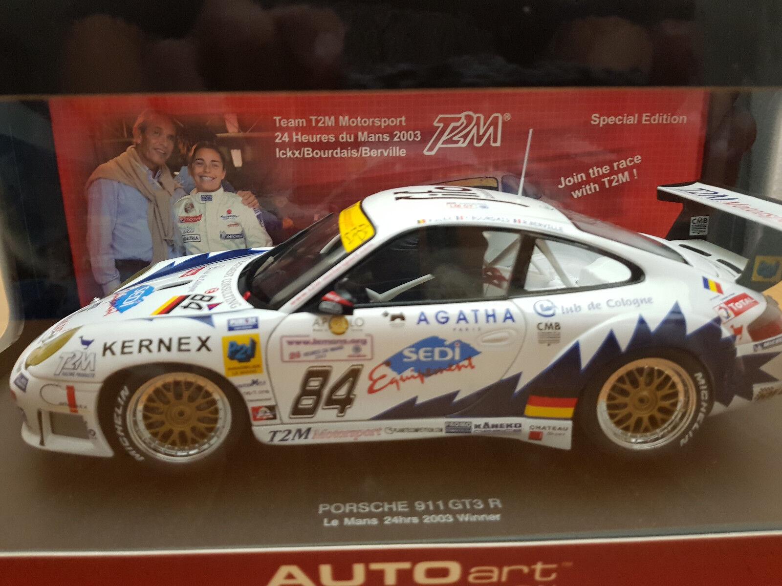 1 18 AUTOART PORSCHE 911 GT3 R  84 Le Mans WINNER 2003