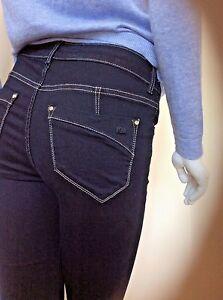 KAREN-MILLEN-Skinny-Jeans-Dark-Stretch-UK-8-10-12-RRP-95-Urban-Cool