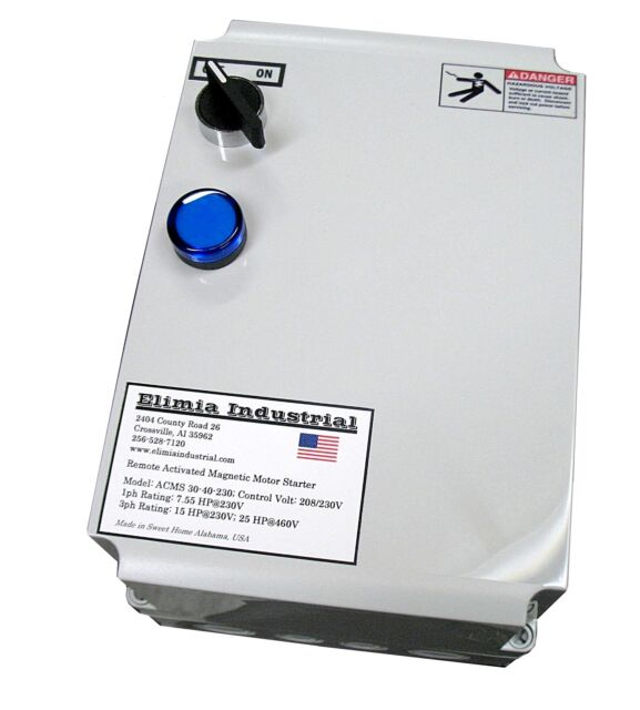 Elimia Air Compressor or Pump Motor Starter 240V Coil 4-6  Amp 1.5 HP Nema 4X