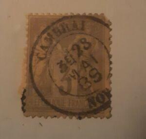 France-postal-Stamp-Scott-89-Used