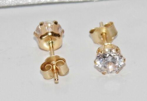 9ct Gold 0.50ct Ladies 4mm Solitaire Stud Earrings