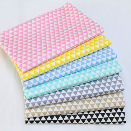 One PCS Cotton Fabric Pre-Cut Cotton cloth Fabric for Sewing Triangle Printing