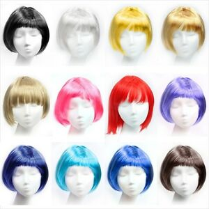 BOB-Full-Wig-Fluorescent-Candy-Colour-Party-COSPLAY-Short-Hair-Sexy-Clip-In-Hot