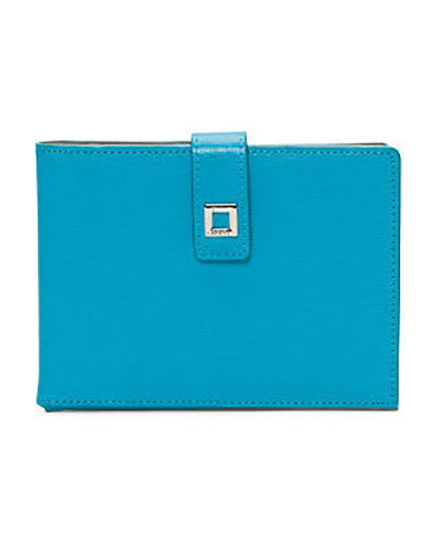 Lodis - Nwt - Audrey Bleu Turquoise Cuir Ticket Ticket Ticket Rabat / Carte Fentes Passport 0d0b0e