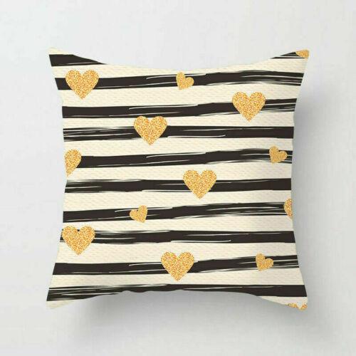 Heart Love Polyester Pillow Case Sofa Waist Cushion Cover Throw Home Decor 18/'/'