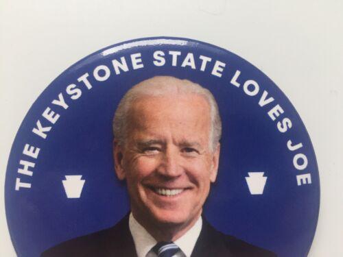 "2020 Vice President Joe Biden for President 3/"" Button Pennsylvania Keystone Pin"