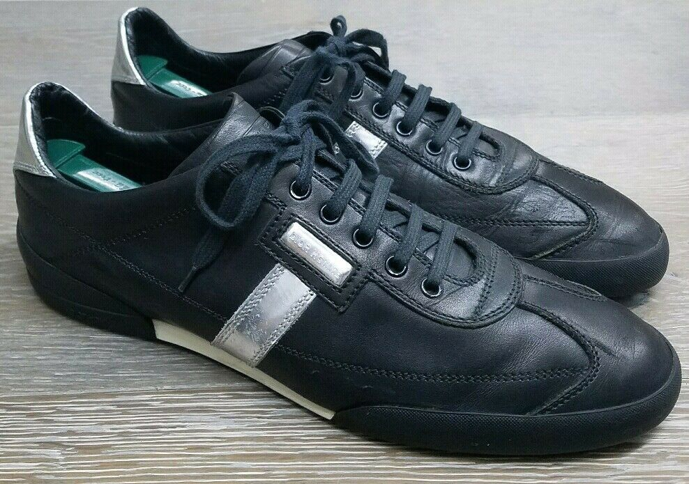 DIOR HOMME Black Leather Casual Sneakers Trainers Men's SZ Eur 44   US 11