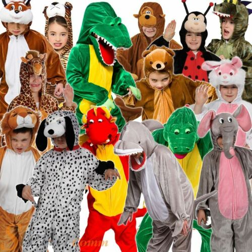 Kids Animal Costumes Zoo Book Week Fancy Dress Child Girls Boys Outfit