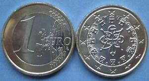 Portugal 1 Euro Münze 2008 Alte Wertseite Fehlprägung Moedas Euro