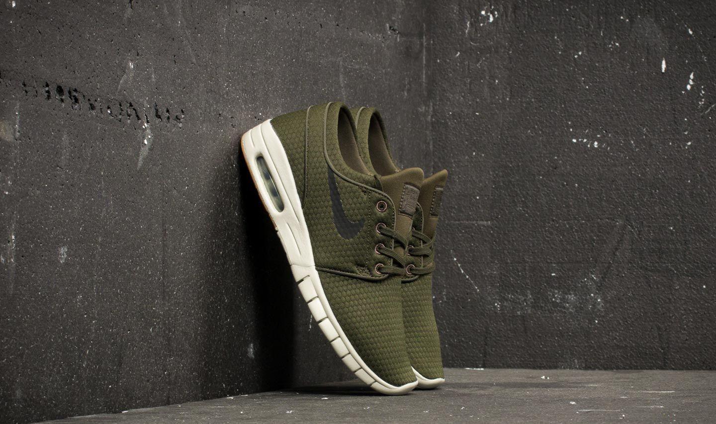 Nike SB Stefan Janoski Max Regno Unito 10. Scarpe da ginnastica da uomo. Sequoia. NUOVO