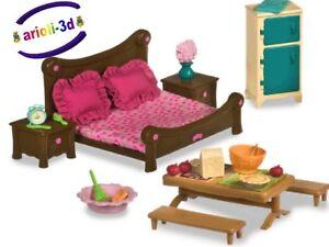 MASTER-BEDROOM-amp-DINING-SET-LI-L-WOODZEEZ-FIT-CALICO-TOYS-NEW-CHAMBRE-HOUSE
