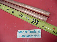 2 Pieces 12 C110 Copper Round Rod 13 Long H04 Solid Cu New Lathe Bar Stock