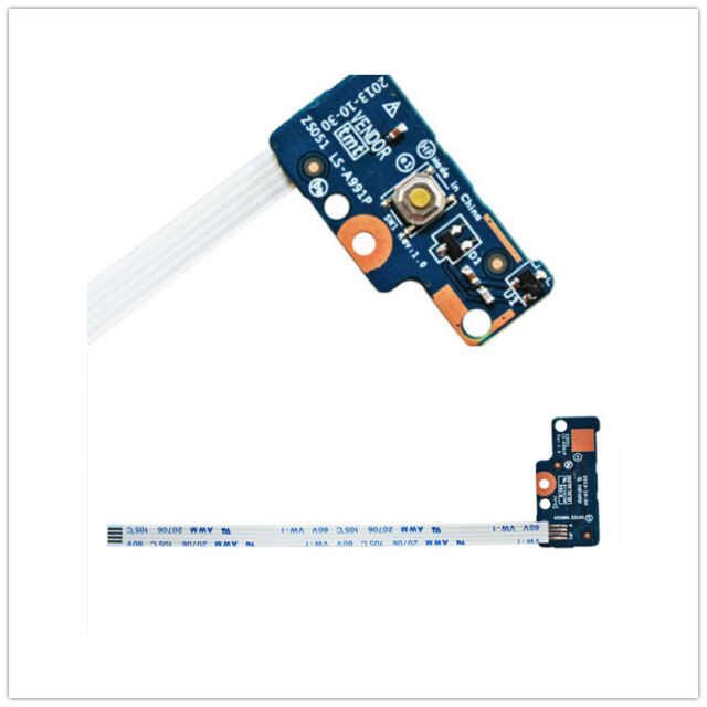 DC Power Switch Button Board Cables For HP 15-G 15-R Series 749650-001  LS-A991P