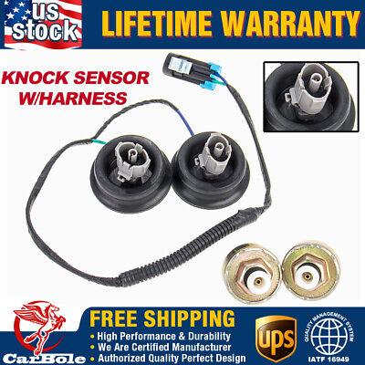 Knock Sensor with Harness Pair Kit Set for Chevy Silverado GMC Sierra 12589867