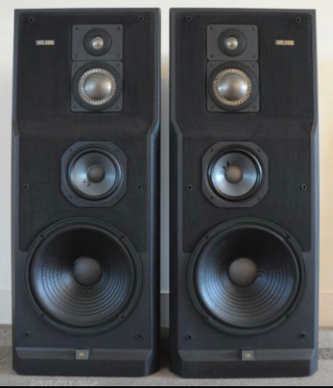 s l1600 - Vintage Rare JBL XPL-200A 4-Way Top Of The Line Speaker Pair