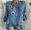 Women-039-s-Long-Sleeve-Casual-V-Neck-Tops-Blouse-Summer-Loose-Floral-Tee-T-Shirt thumbnail 13