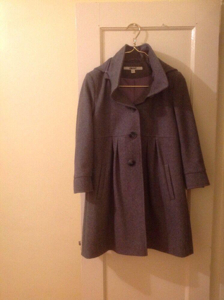 DKNY Women's Size 2 Grey Coat