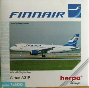 Herpa-Wings-1-500-Finnair-Airbus-A319-509039-OH-LVA-RARE