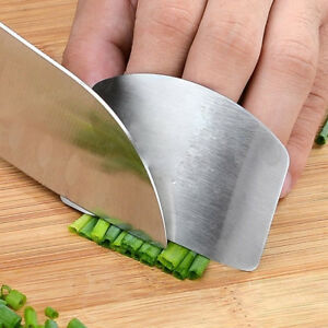 Kitchen Stainless Steel Finger Guard Shield Finger Protector Slice Chop Shield Safety Cooking Tools Chopping Finger Tools for Cutting and Slicing Vegetables/ï/¼/ˆSilver/ï/¼/‰