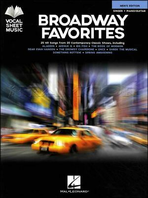 Contemplative Broadway Favorites Vocal Singer Piano Guitar Book Mens Edition Same Day Dispatch Musical Instruments & Gear