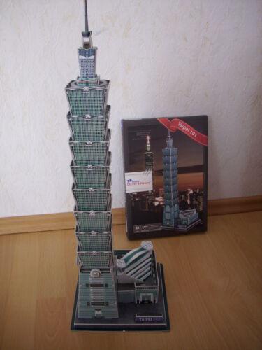 Puzzles & Geduldspiele Gebäude Wolkenkratzer Hochhaus 3D Puzzle Taipei 101 Taiwan Tower Turm Höhe 59cm